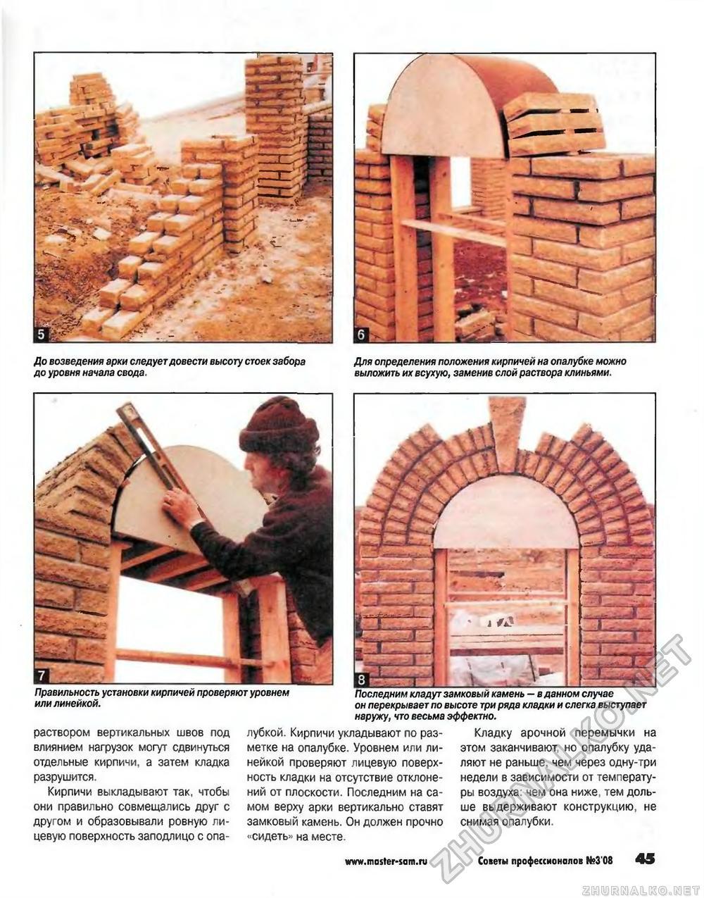 Как сделать арку в доме из кирпича