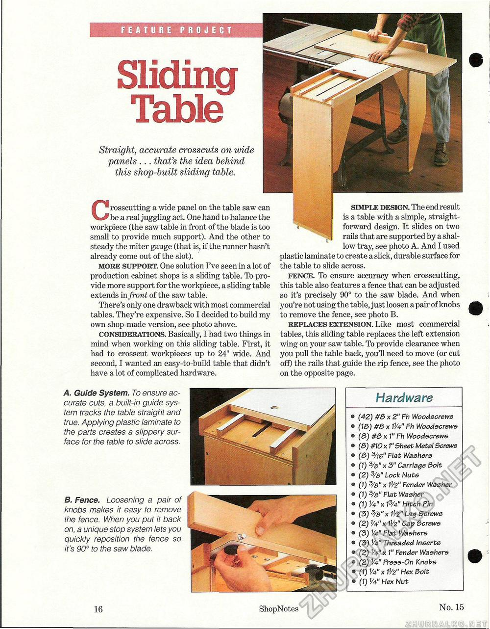 15 - Sliding Table, страница 16