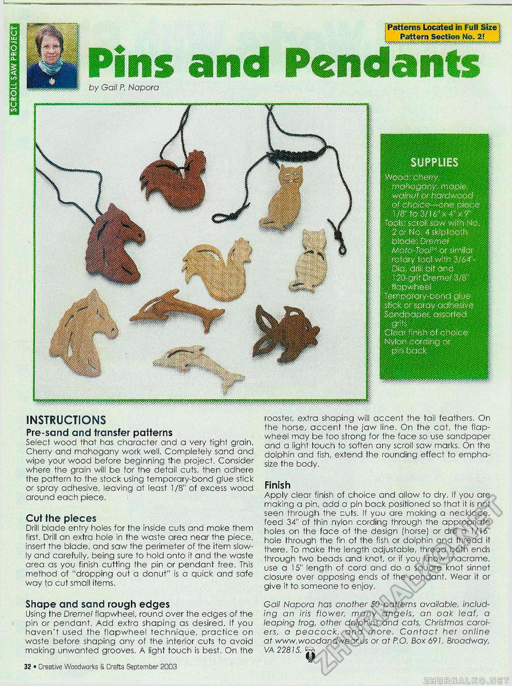 Creative Woodworks & crafts 2003-09, страница 32
