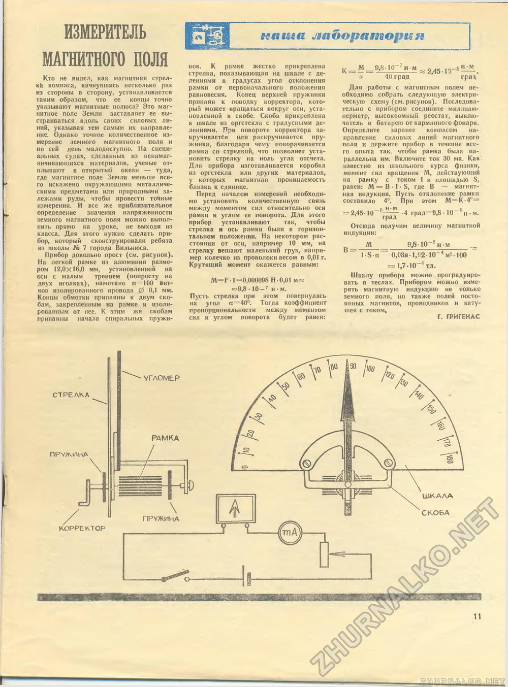 Прибор своими руками для измерения магнитного поля