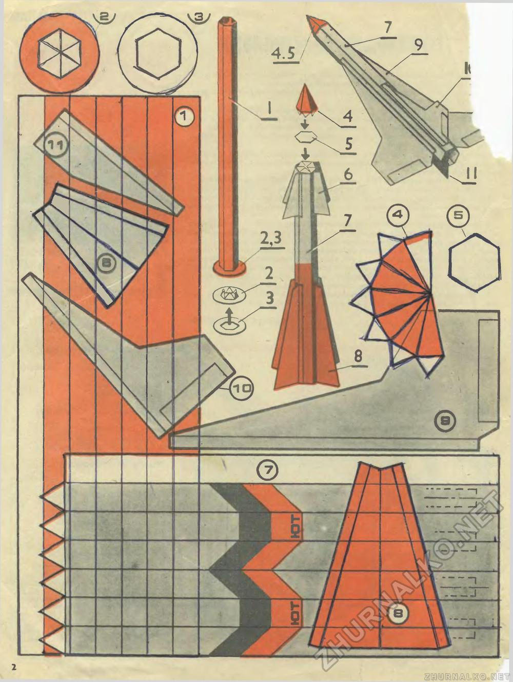 Схема ракеты из картона своими руками