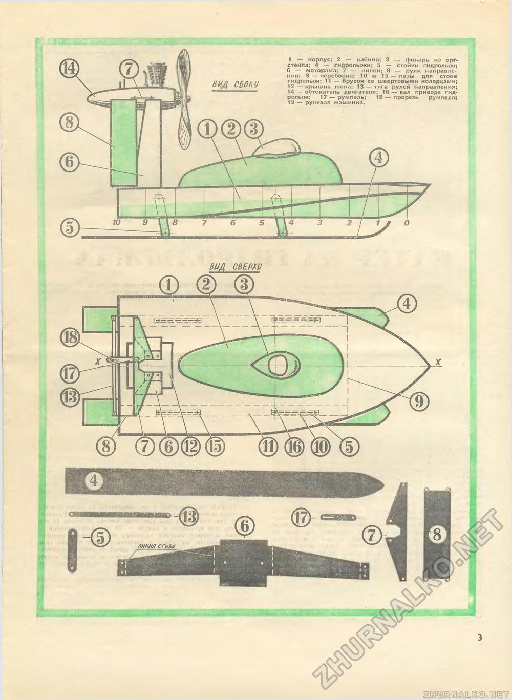 Чертеж катера на радиоуправлении своими руками