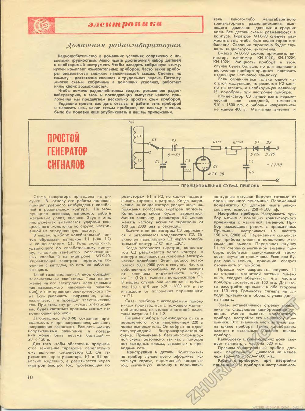 Простейшая схема электроприборов