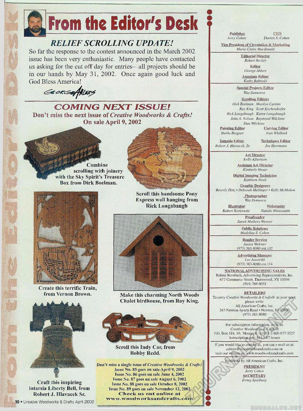 Creative Woodworks & crafts 2002-04, страница 10