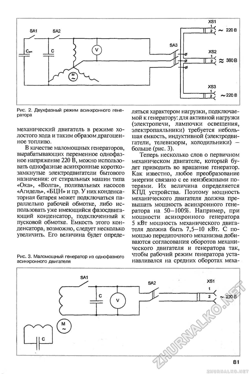 Асинхронный электродвигатель в качестве генератора своими руками 57
