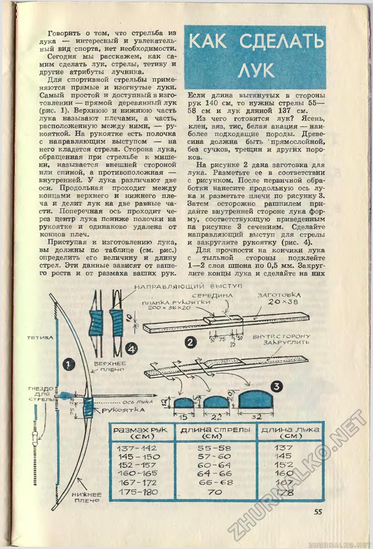 Вот именно про этот простой лук я всем и рассказываю, делал их в разных вариантах с 1972 по 1976 год...