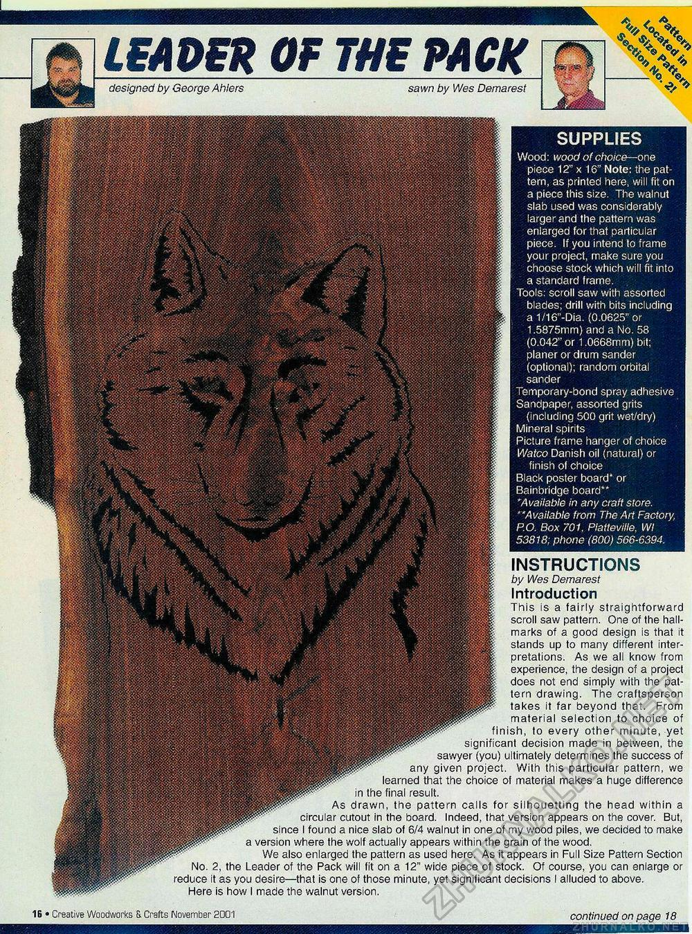 Creative Woodworks & crafts 2001-11, страница 16