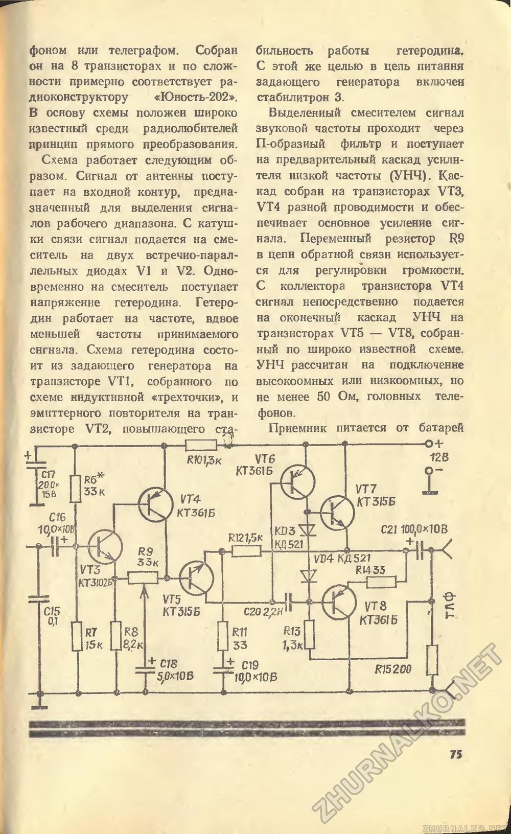 Схемы гетеродинов приемников по сложным схемам