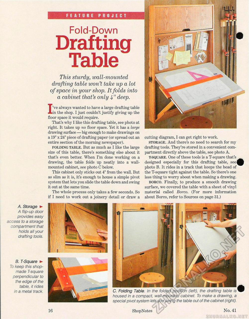 Fold Up Drafting Table Desk By Joe