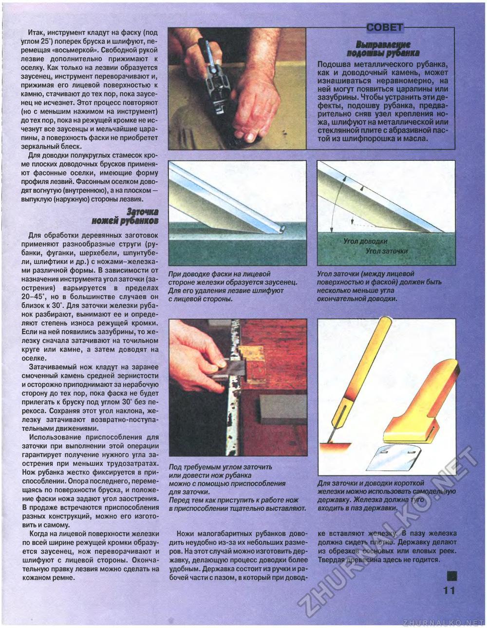 угол заточки ножа для рубанков