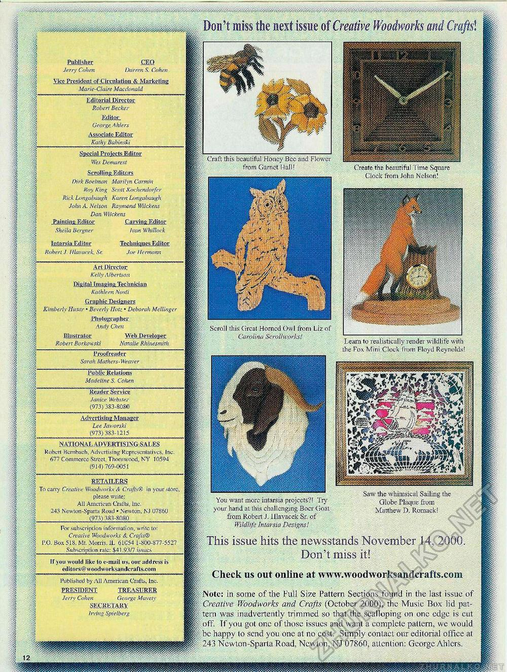 Creative Woodworks & crafts 2000-11, страница 12